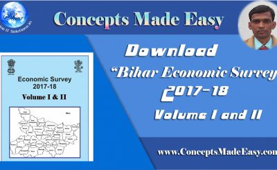 Download Bihar Economic Survey 2017-18 Volume 1 and 2 in PDF