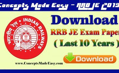 Download last 10 years Railways Junior-Engineer exam paper useful for RRB Junior-Engineer exam 2019