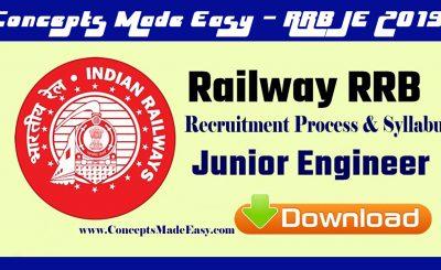 Railways Junior Engineer Exam 2019 - Complete Recruitment Process and Syllabus of RRB JE Exam 2019