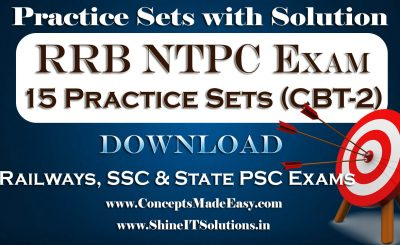 Download 15 Practice Sets for RRB NTPC Stage-2 Examination in PDF Free of Cost